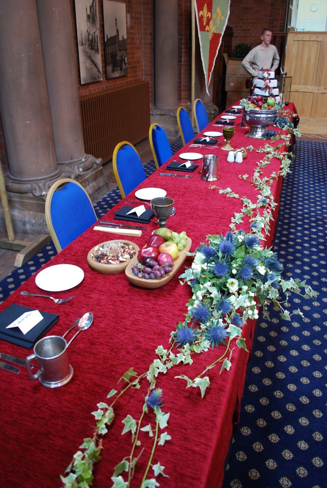 Flower decorations | Medieval wedding, Wedding flower ...