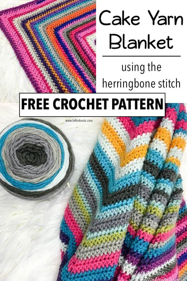 Crochet a Scrapghan with Cake Yarn from Your Stash Free