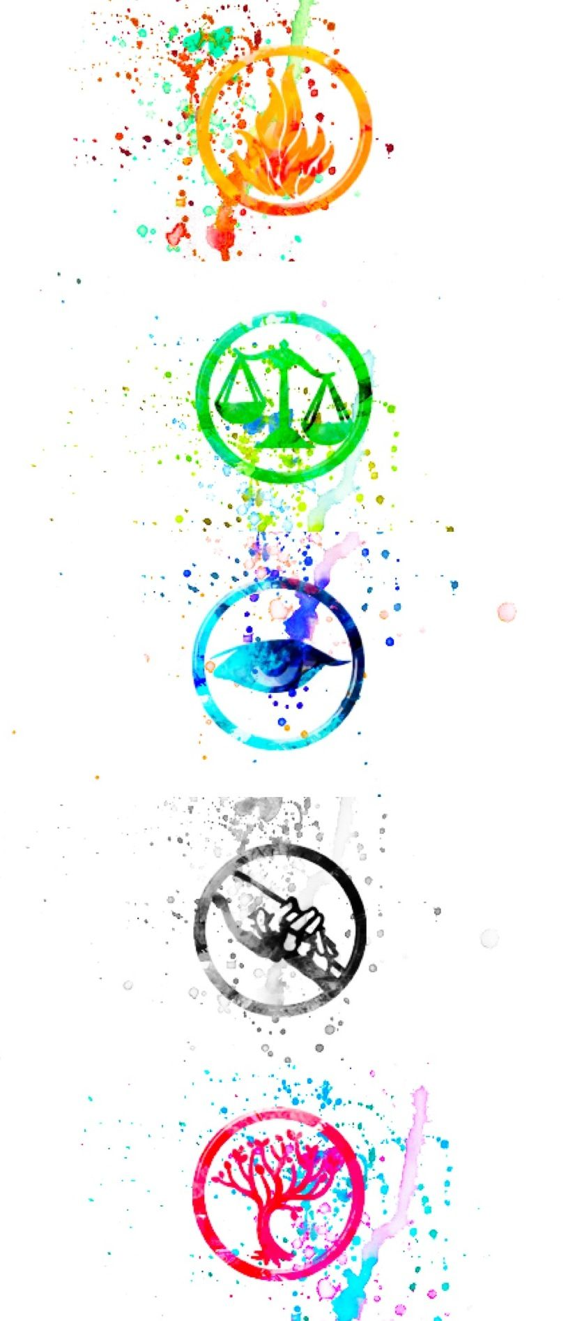 Icons water colored divergent                                                                                                                                                                                 Más