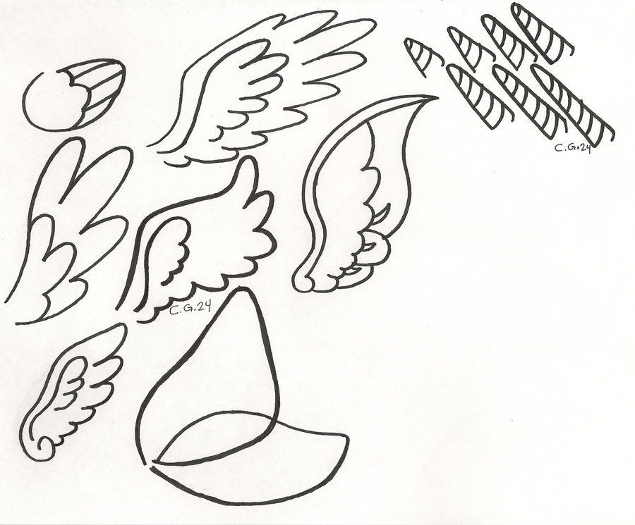 My Little Pony Base Wings and Horn Templates for printing - best of my little pony spring coloring pages