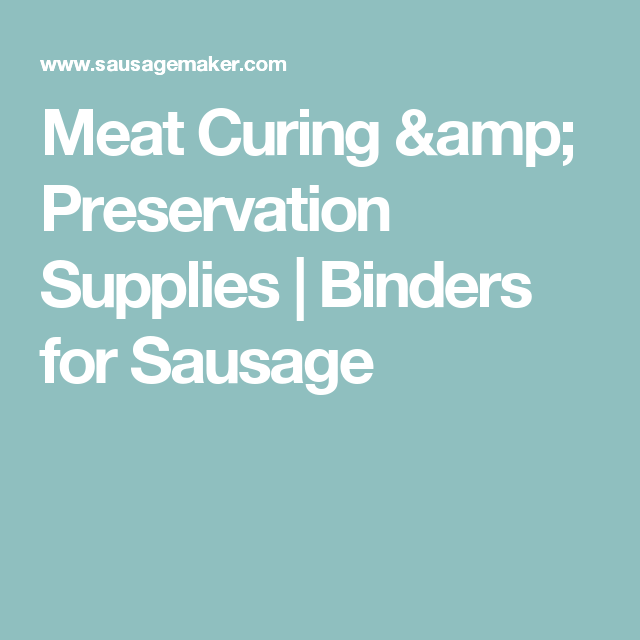 Meat Curing & Preservation Supplies