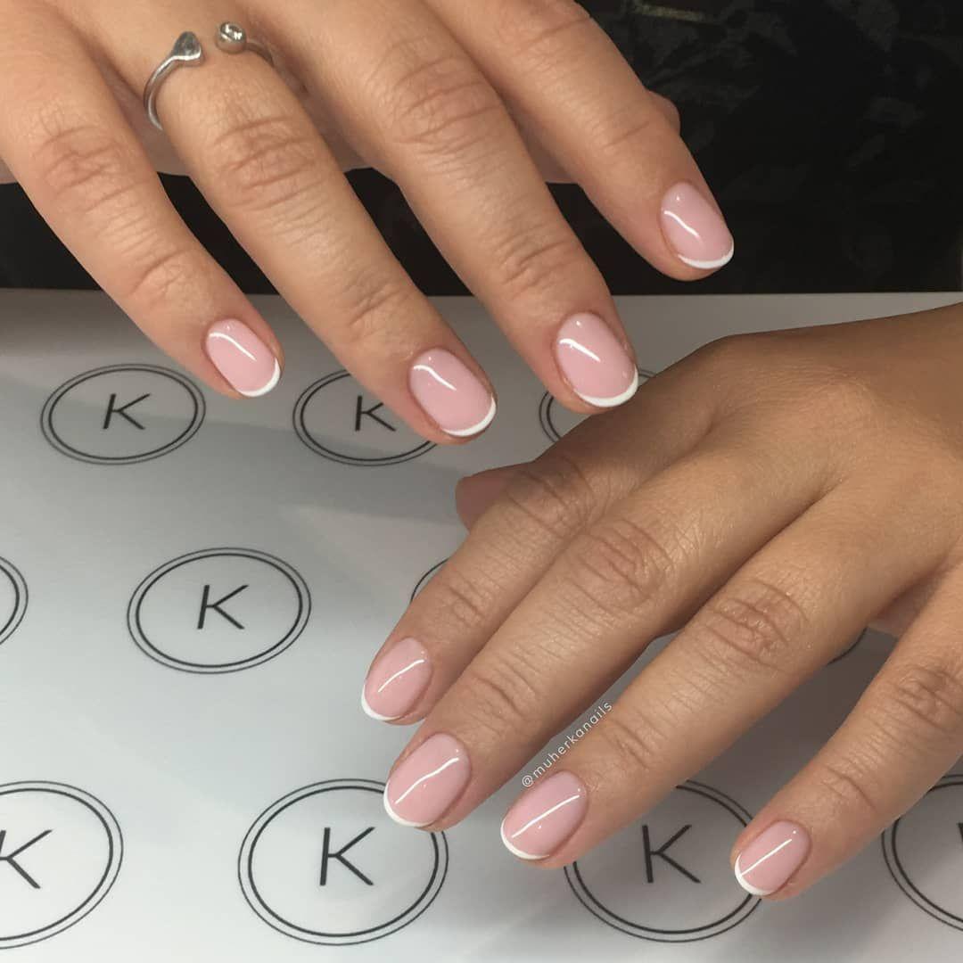 9 Stunning Modern French Manicure Ideas Stylish Belles French Tip Nails Round Tip Nails French Nails