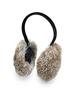 Dyed Rabbit Fur Earmuffs