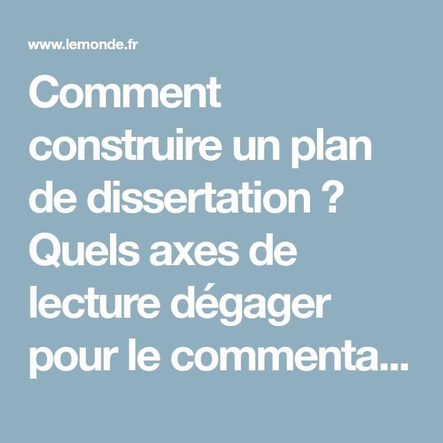 Construire un plan de dissertation