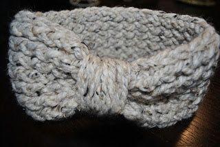 Loom Knit/_Red/_Ready to Ship Ear Warmer