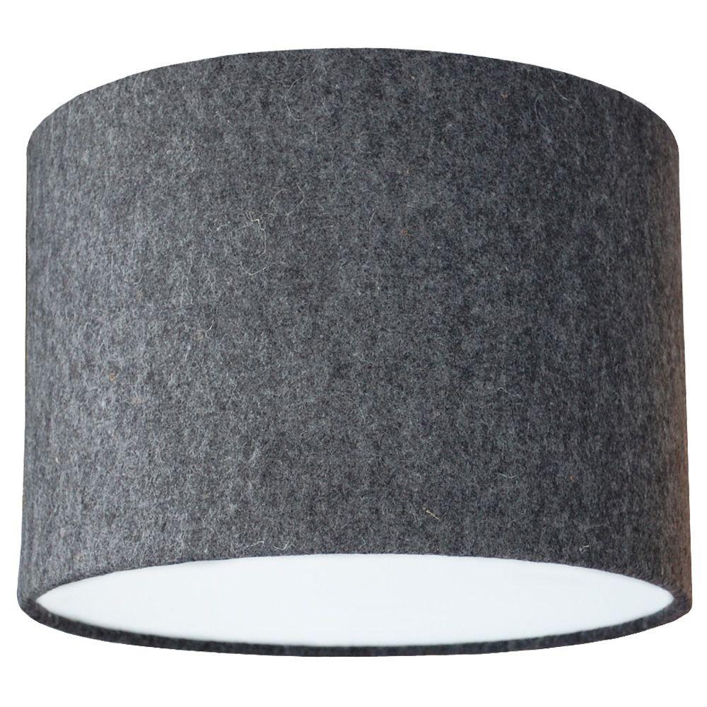 Natural Dark Grey 100 Wool Felt Drum Shade Lilos Home Lamp
