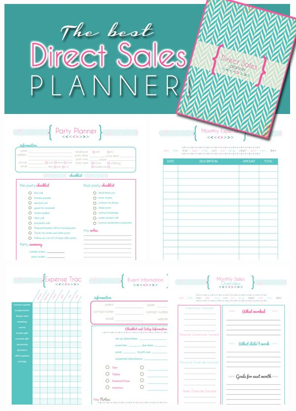 Direct Sales Planner - Home business planner ** BLANK CALENDAR ...