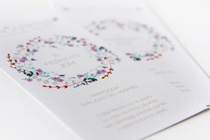 Recordatorios (1 euro/ud) en papel iriscente o verjurado. Consúltame para otros formatos y diseños