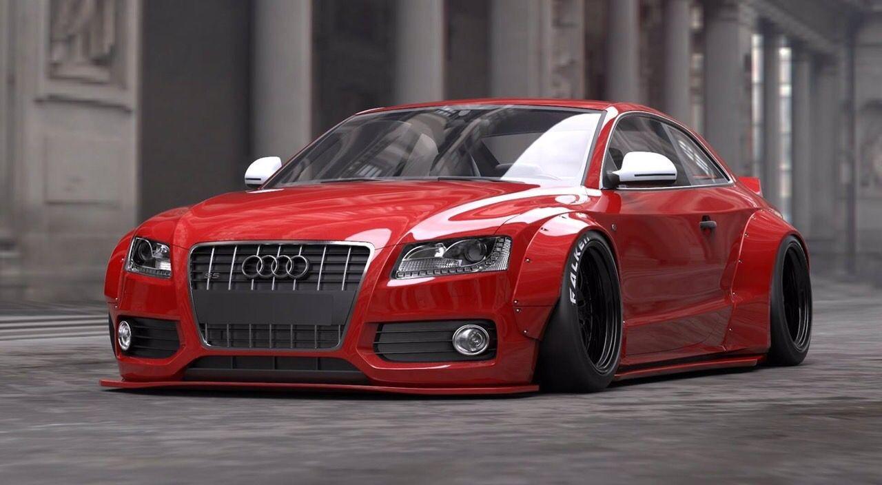 Liberty Walk Audi S5 A5 Super Wide Body Kit Renderings Audi S5 Audi Cars Audi