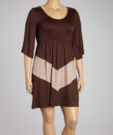 Look what I found on #zulily! Brown & Taupe Chevron Dress - Plus #zulilyfinds http://www.zulily.com/p/brown-taupe-chevron-dress-plus-76754-6220198.html?pos=46&e=1&ns=ns_703602073 1393789520074