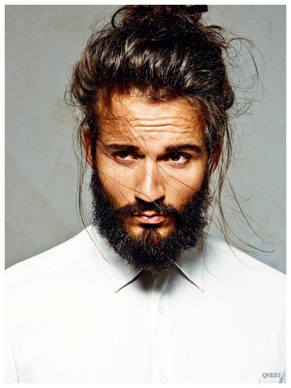 Finn Brock Rocks Chic Men S Hair Updos For Qvest Shoot Long Hair Styles Men Hair And Beard Styles Beard