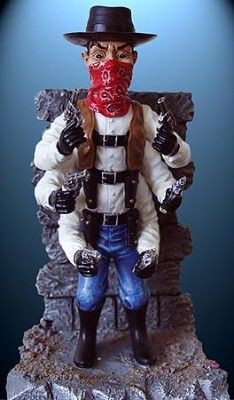Six Shooter Resin Statue