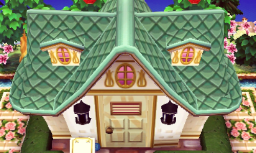 Liking The New Exterior On My House Animal Crossing House Exterior Happy Home Designer