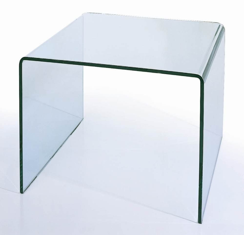 Bh Design Waterfall Bent Glass End Table Glass End Tables End Tables Table [ 962 x 1000 Pixel ]