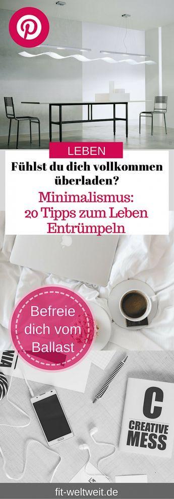 Minimalismus Tipps - 20 Tipps zum Leben Entrümpeln Teil 1 | Pinterest