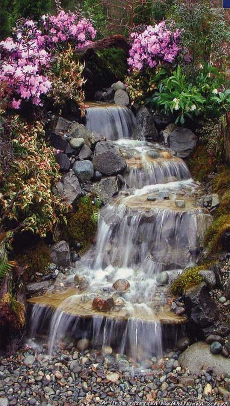 35 amazing how to make waterfall for your home garden on awesome backyard garden landscaping ideas that looks amazing id=96665