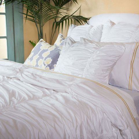 White Mirabel Ruched Duvet Cover Twin Twin Xl Beautiful Duvet