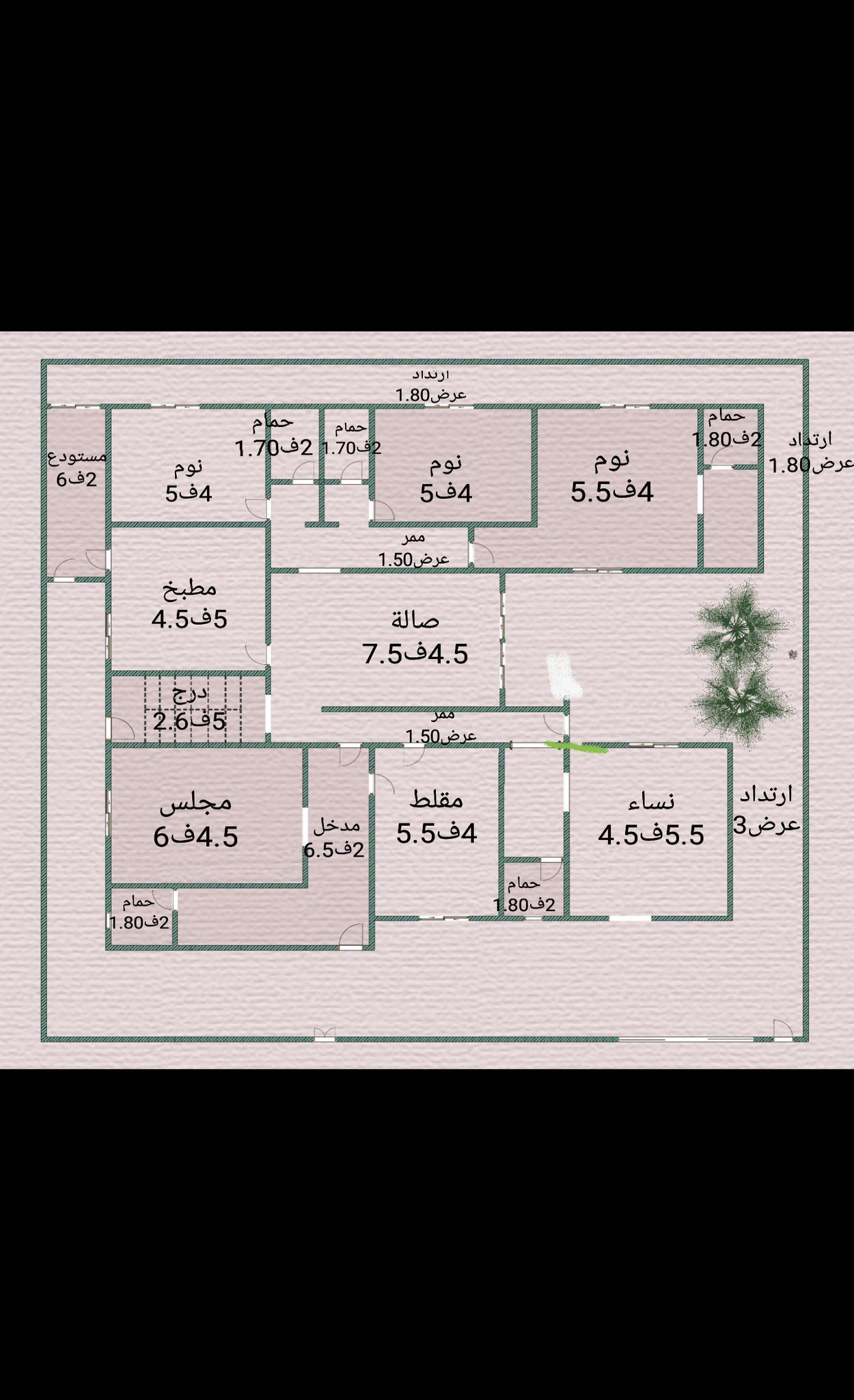 مخطط دور واحد My House Plans Family House Plans Model House Plan