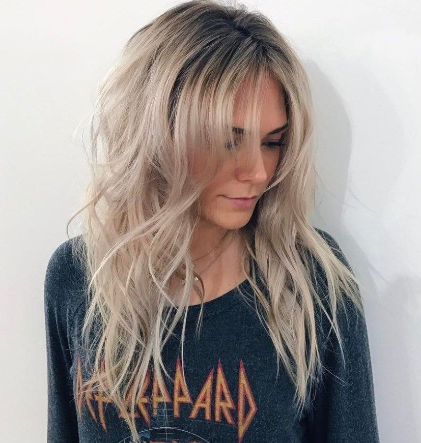 50 Cute And Effortless Long Layered Haircuts With Bangs Choppy