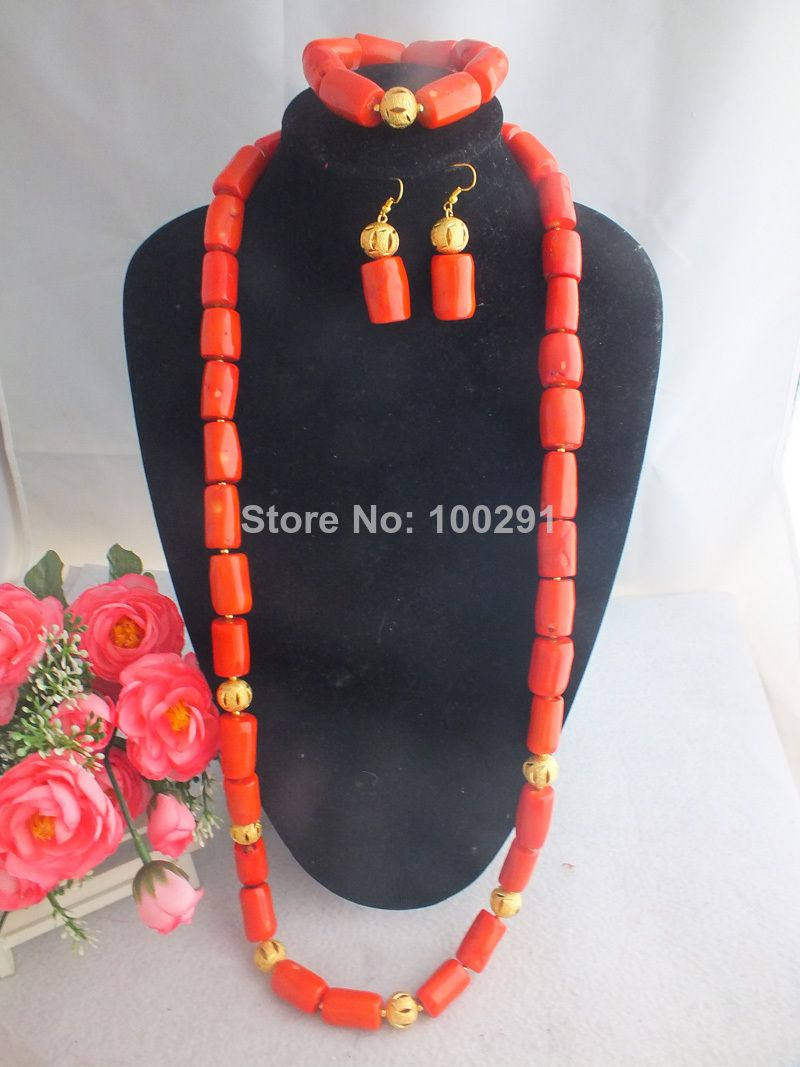 2014 African Wedding Design For Men, Coral Beads jewelry set W-883 ...