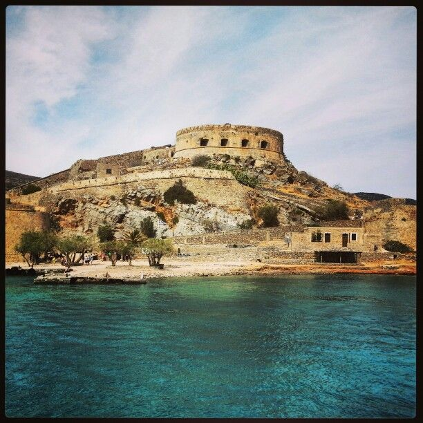 The island of Spinalonga, Crete. A beautiful city with a somewhat sad story. The island used to be a leper colony where all diseased had to live.
