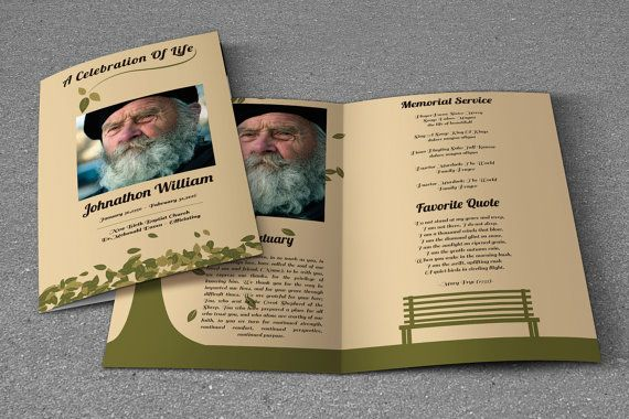 Printable Funeral Program Template Obituary Template Photoshop