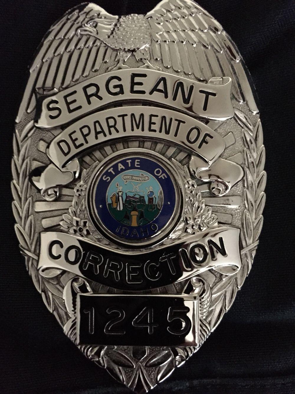 Correctional Sergeant Badge LEO Pinterest Badges