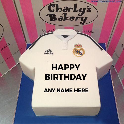 Sport Tshirt Design Birthday Cake With Name Edit Black Happy