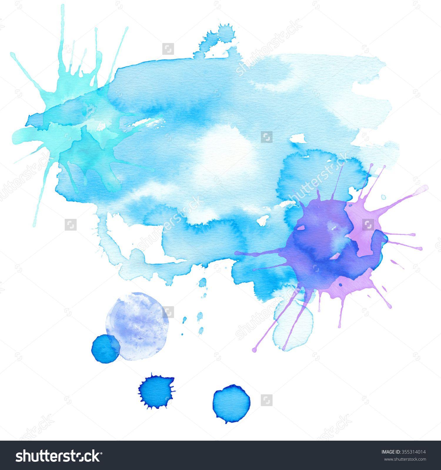 blue watercolor splatter wwwpixsharkcom images