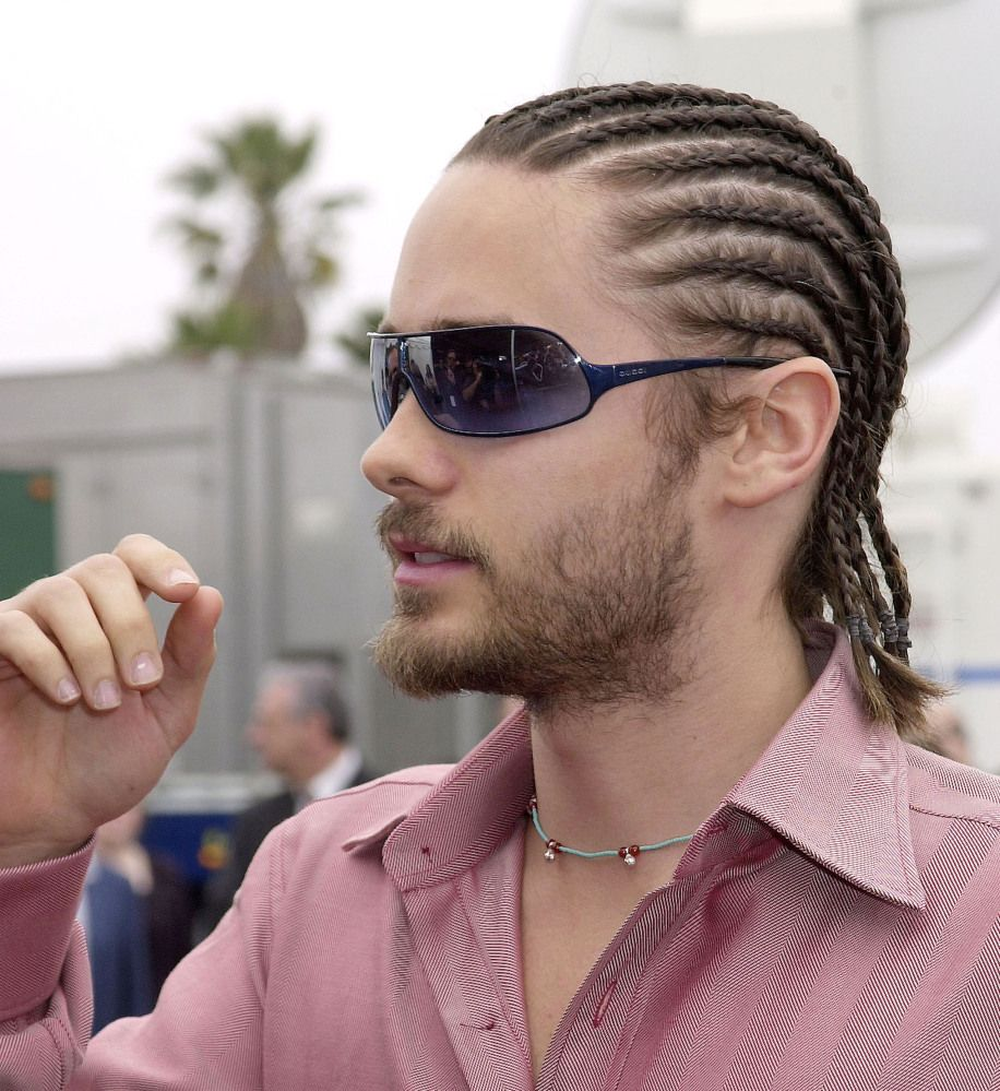 Jared Leto Cornrow Hairstyles For Men Mens Braids Hairstyles White Guy With Braids