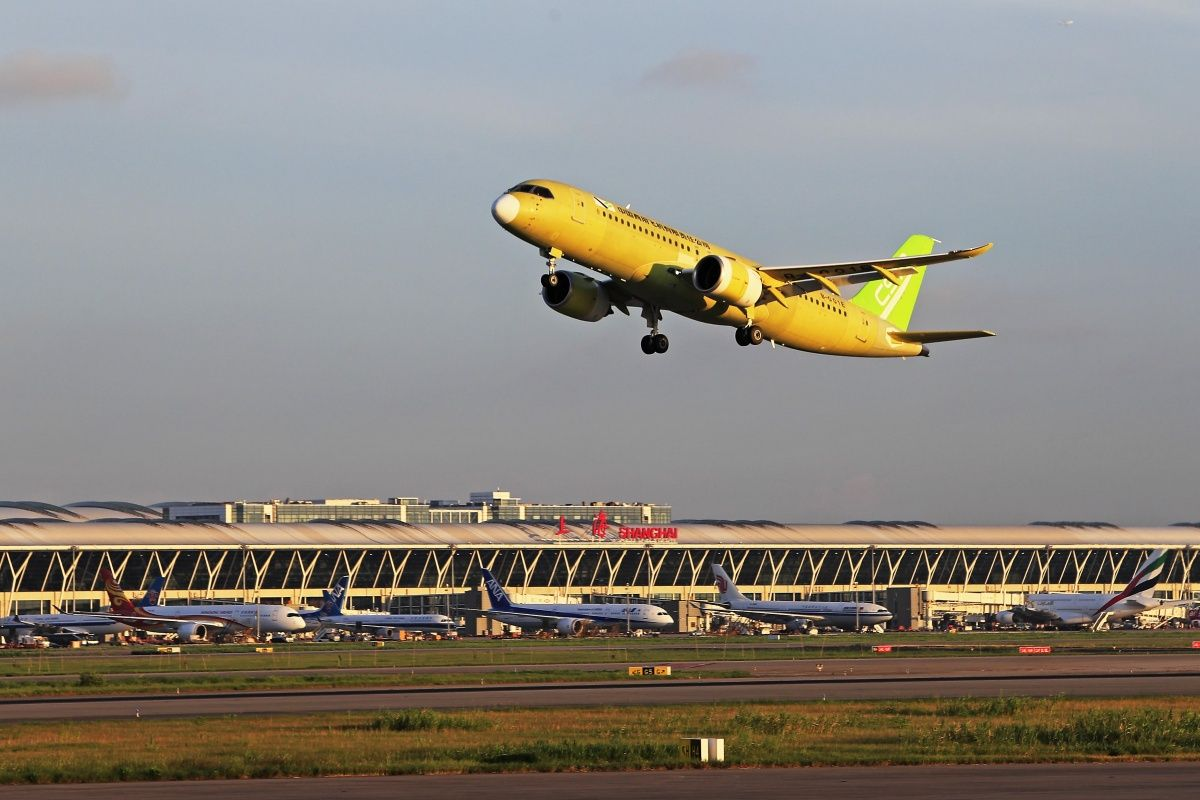 Comacs sixth c919 has taken its first flight the chinese