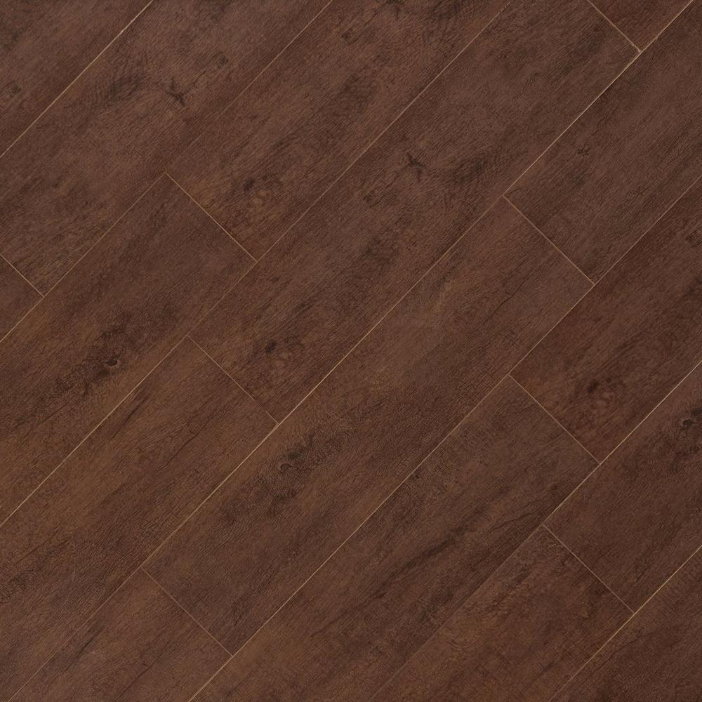 1 79 Sq Ft Moritz Walnut Wood Plank Porcelain Tile 6 X 24