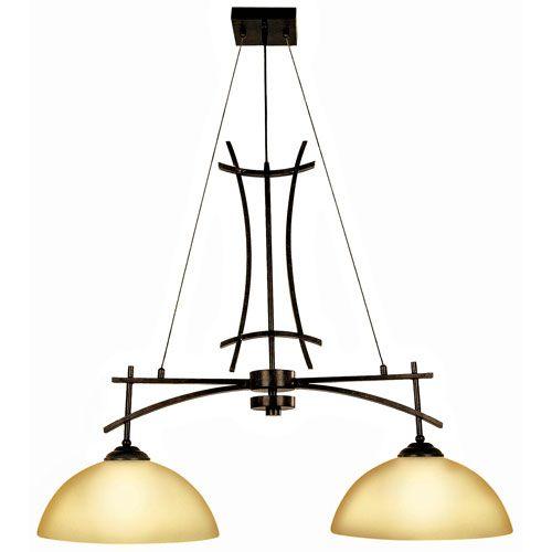 Sentinel Venetian Bronze Two-Light Island Light Bellacor $326.40