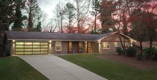ranch home remodel pictures. bright green door blog craftsman