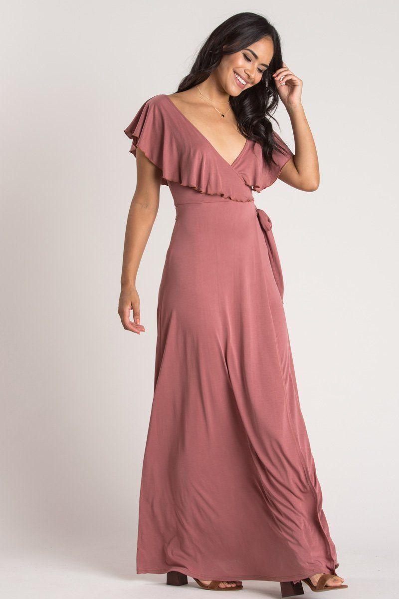 a1e592e187003 Candace Mauve Ruffle Wrap Maxi Dress - Morning Lavender. Candace Mauve  Ruffle Wrap Maxi Dress - Morning Lavender November Wedding Guest Outfits