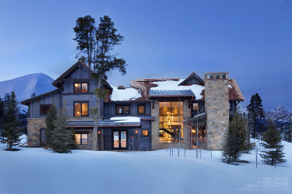 Castle In The Sky Exterior Big Sky Montana By Locati Architects Interior Design By Locati Interio Rustic Houses Exterior House Exterior Mountain Dream Homes