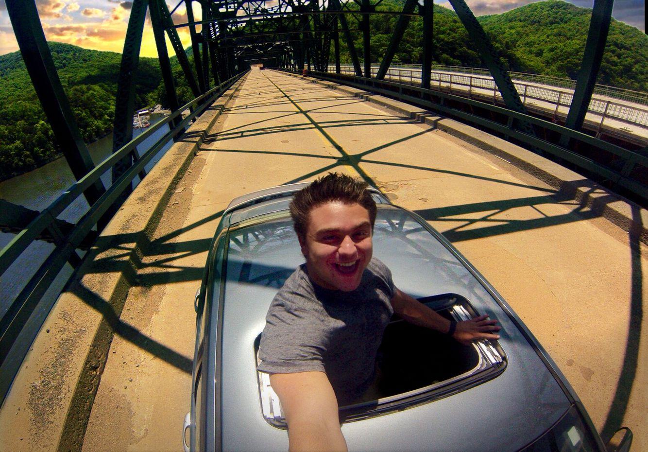 Gopro bridge car selfie