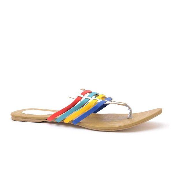 Multicolor flexible women sandals.