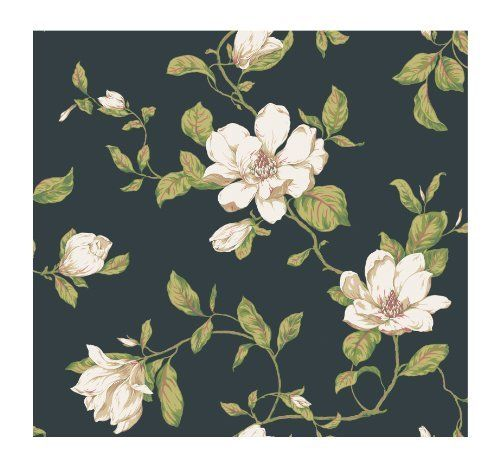 York Wallcoverings Veranda Ad8202 Magnolia Vine Wallpaper