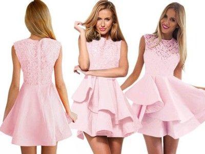 Sukienka Rozkloszowana Koronkowa Studniowka P6686 5910159696 Oficjalne Archiwum Allegro Fashion Graduation Dress Formal Dresses