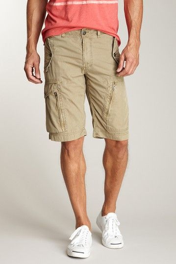 Converse Black Canvas Emmett Cargo Short in British Tan
