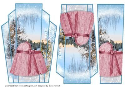 Winter Scene Baby Girl on an Art Deco frame. Includes decoupage elements to make three layers.