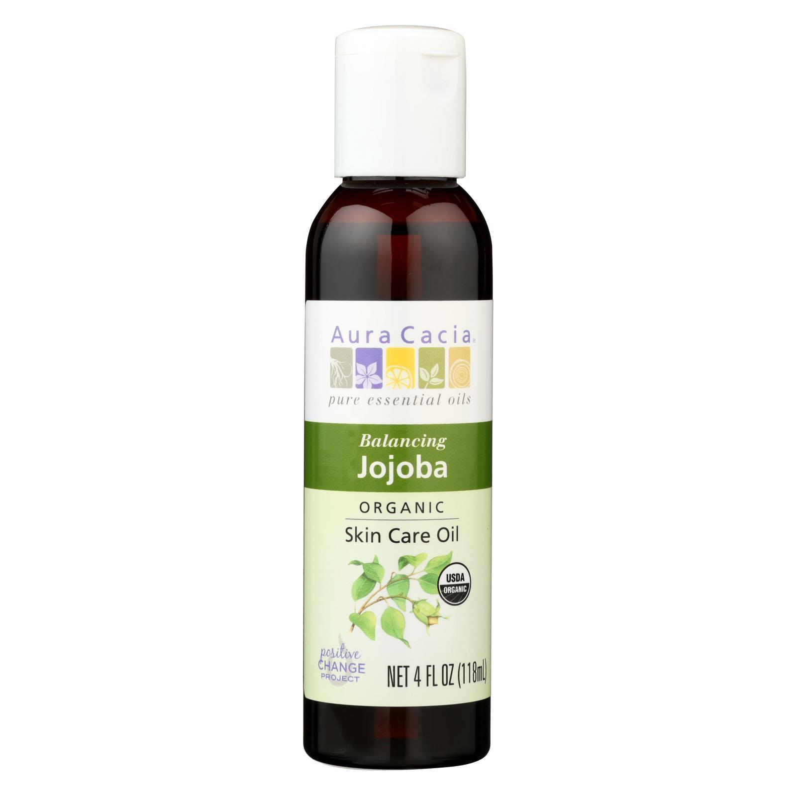 Aura Cacia Organic Aromatherapy Jojoba Oil - 4 fl oz #jojobaoil