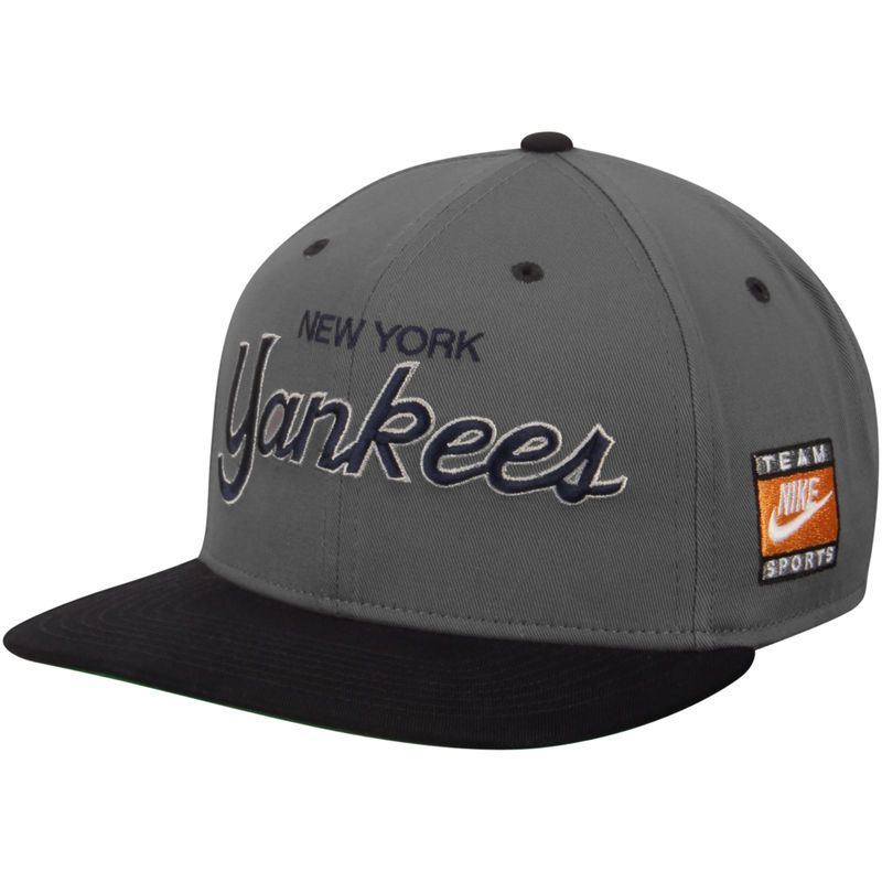 3133f6d0373ba New York Yankees Nike Cooperstown Collection SSC Throwback Adjustable  Snapback Hat - Anthracite Navy