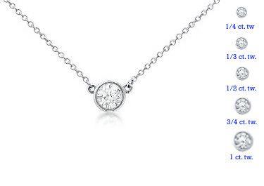 14 white gold 12 carat round diamond bezel set pendant sarraf 14 white gold 12 carat round diamond bezel set pendant sarraf aloadofball Choice Image