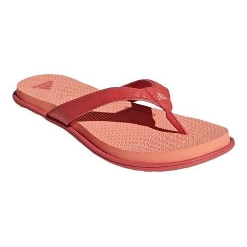 f53ad5107ae1be Women s adidas Cloudfoam One Y Thong Sandal Trace Scarlet Trace  Scarlet Chalk Coral (