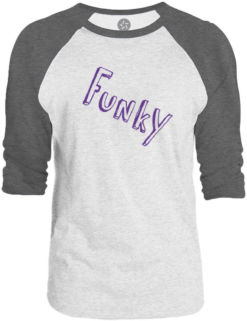 Big Texas Funky (Purple) 3/4-Sleeve Raglan Baseball T-Shirt