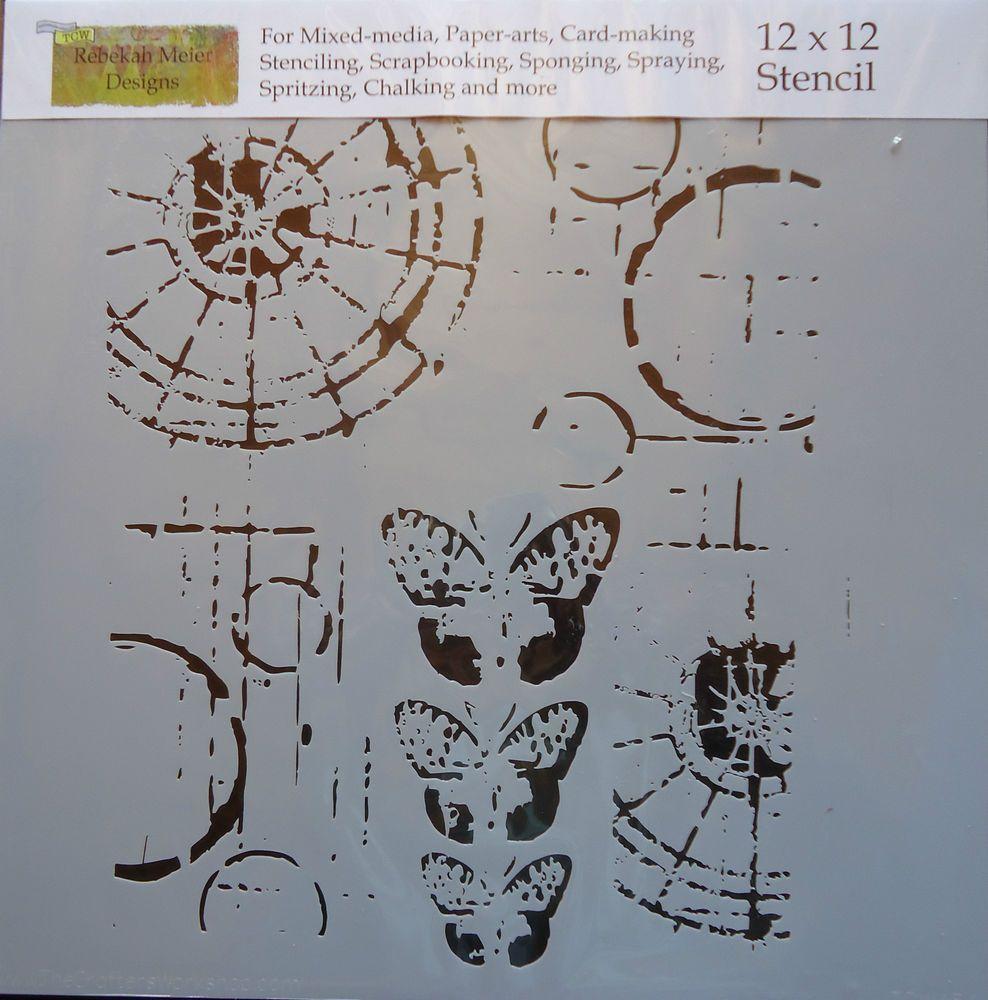 Stencil Specimens 12x12 The Crafters Workshop template TCW454 Rebekah Meier #TheCraftersWorkshop