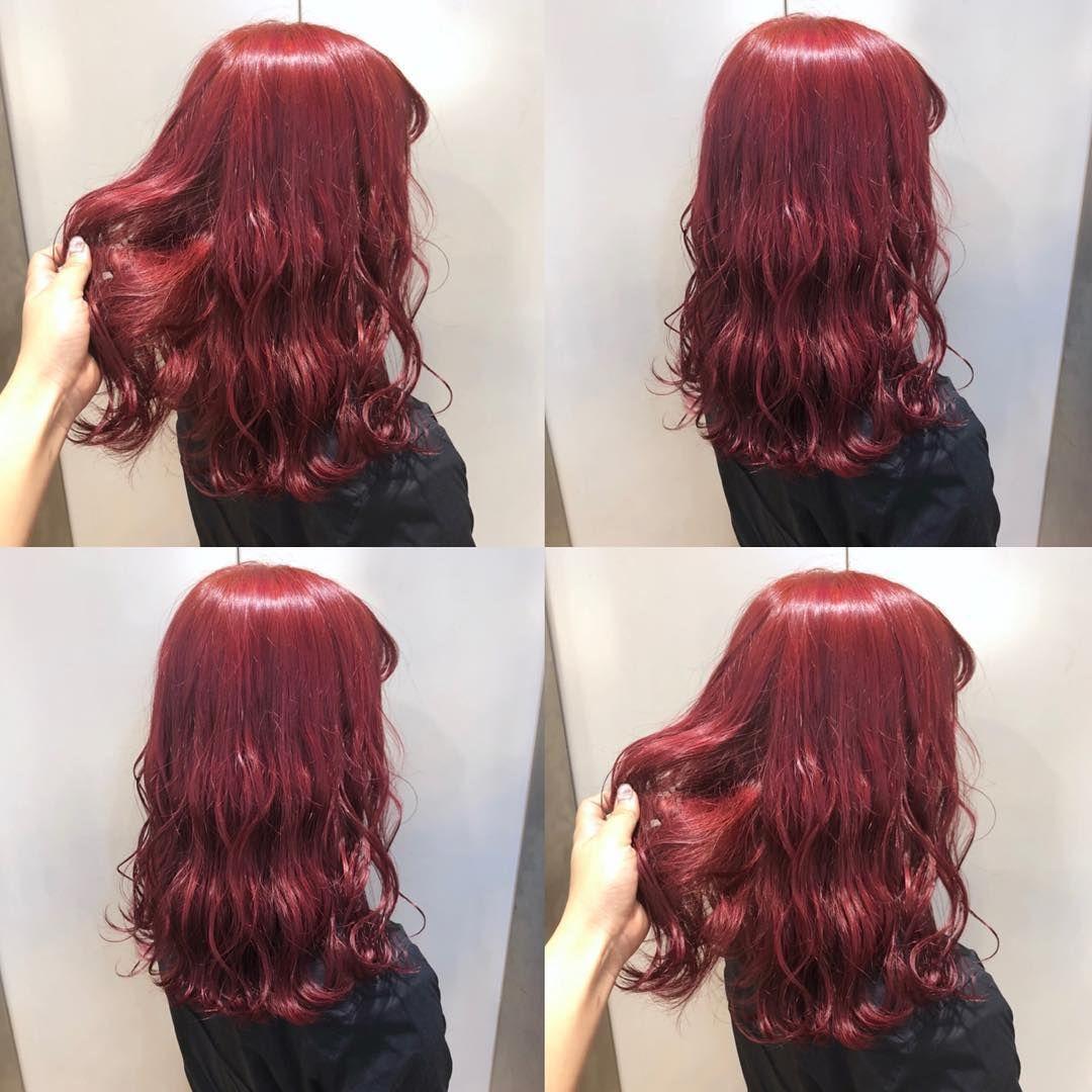 Cherry Red 深すぎず 鮮やかすぎず 艶っと見えるように