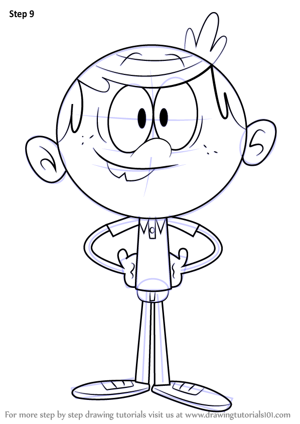 Learn How to Draw Lincoln Loud from The Loud House (The Loud House ...